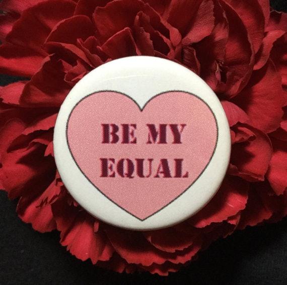 Valentineu0027s Day Feminist Pin, $2, Etsy
