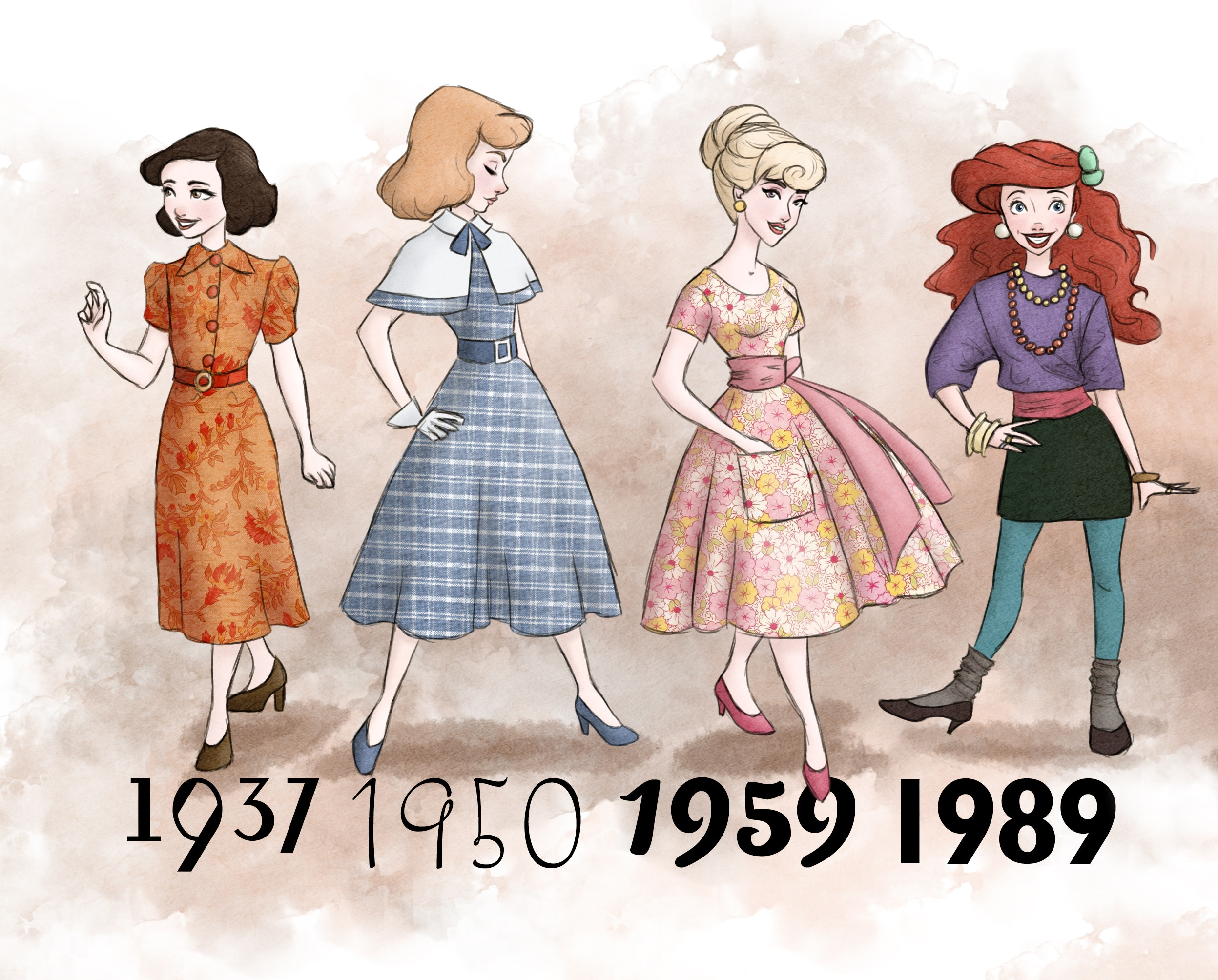 What Disney Princesses Would Have Worn Through The 20th And 21st