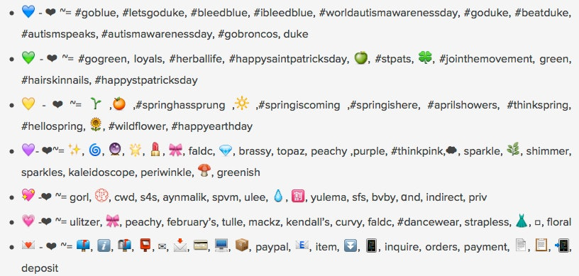 Emoji meanings hearts