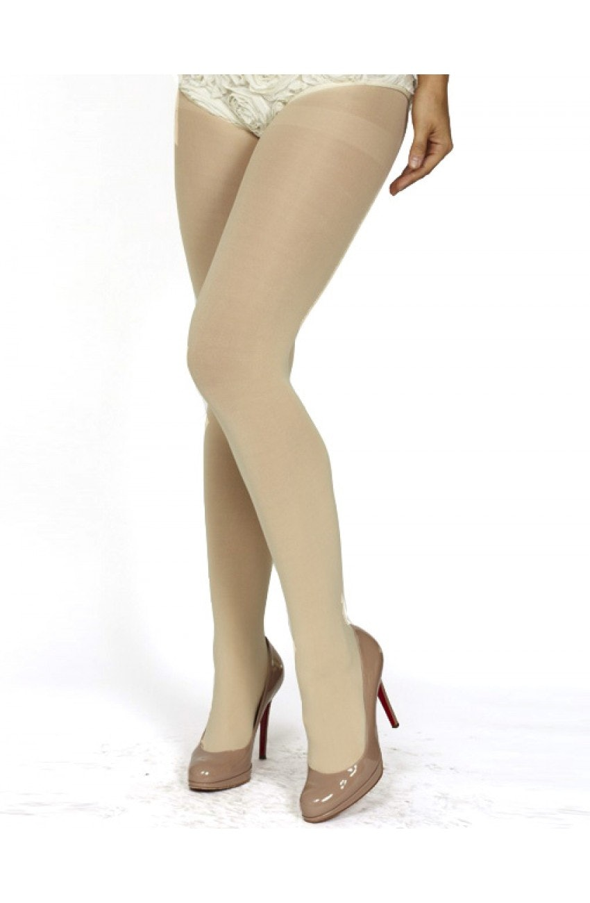 Face Between Her Pantyhose Thighs