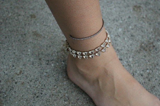 on cotton bridal beach in crocheted item jewelry yoga from cool anklet anklets model handmade sandals accessories barefoot