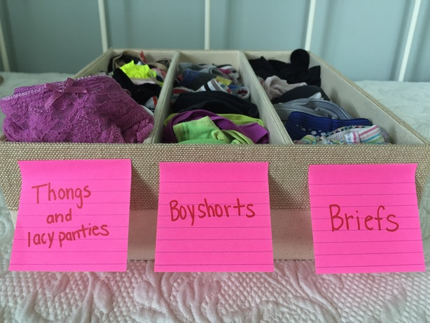 5 Ways To Organize Your Underwear Collection So Getting
