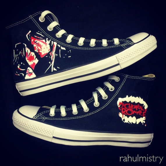 my chemical romance converse shoes