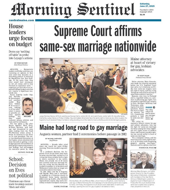 current articles on same sex marriage
