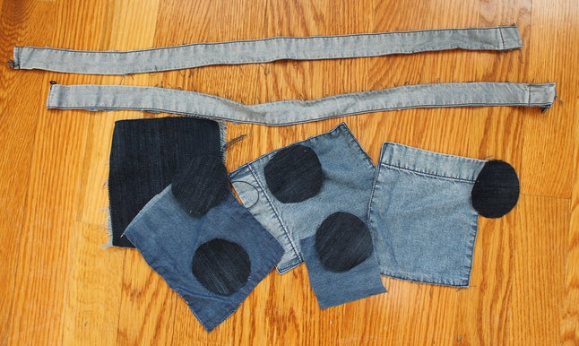 how to make patchwork jeans