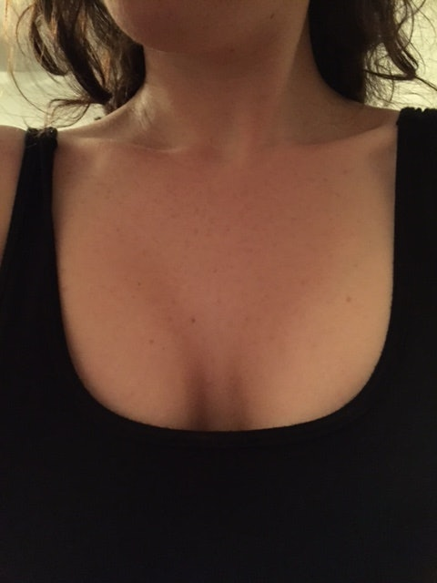 Cleavage selfie small tits
