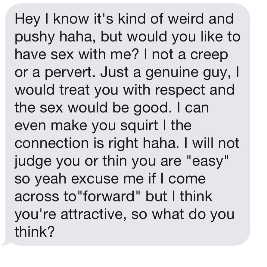 Perfect first message for online hookup