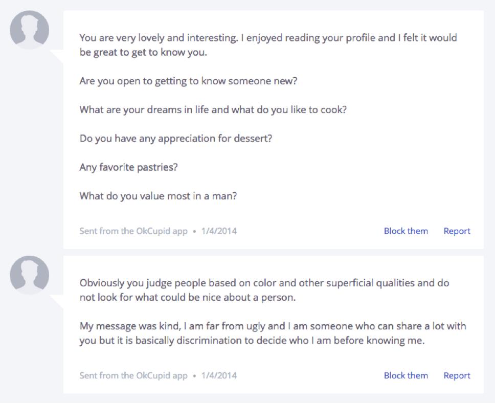 Best way to send an online hookup message