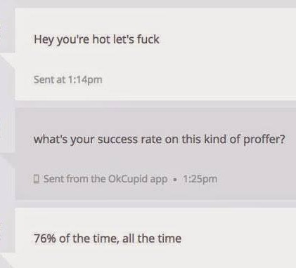 Whats the best first message on a hookup site
