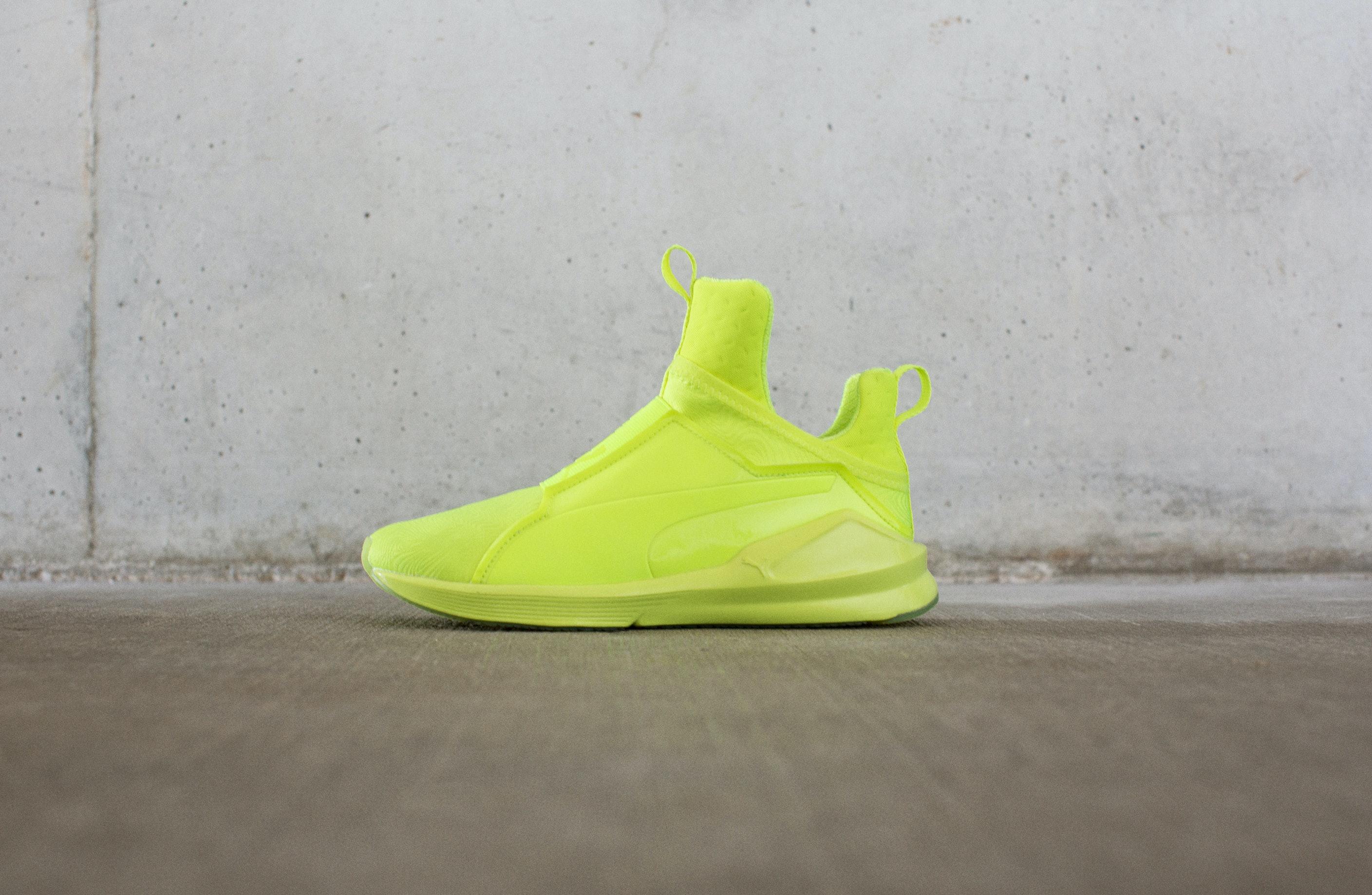 neon puma sneakers