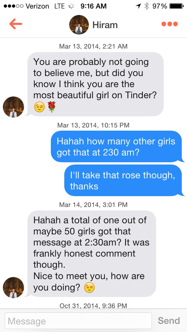 How to message girls dating apps