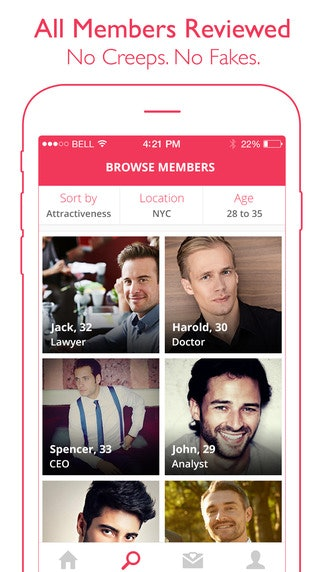 Dating app Suitr is specifically for professionals, so it wins a stamp of  approval from white-collars right there. Also, their