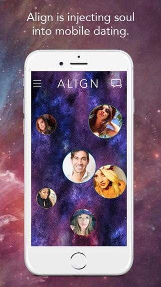 Align matches you based on your horoscope, and though it's all in good fun,  I feel as though it might have a higher relationship-possibility quotient.