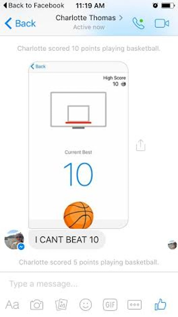 how to play basketball on messenger pc