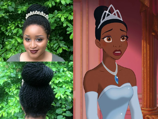 In My Quest To Recreate Disney Princess Hair I Turned Tiana First For Me Tianas Updo Was Foolproof Senegalese Twists Can Carry A Bit Of