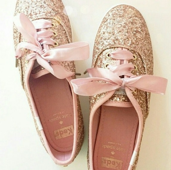These rose gold Keds designed by Kate Spade certainly take the wedding  sneaker up a notch d9aca4424f49
