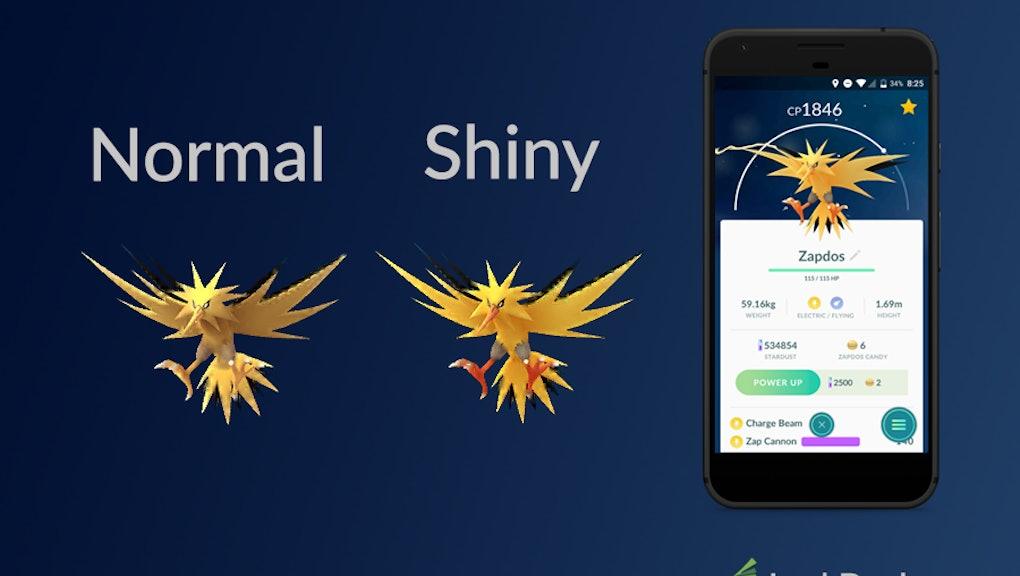 Image result for shiny zapdos in pokemon go