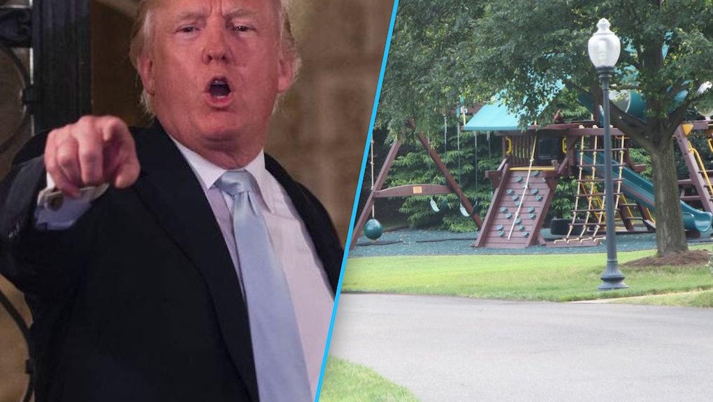 Donald Trump Removes Swing Set On White