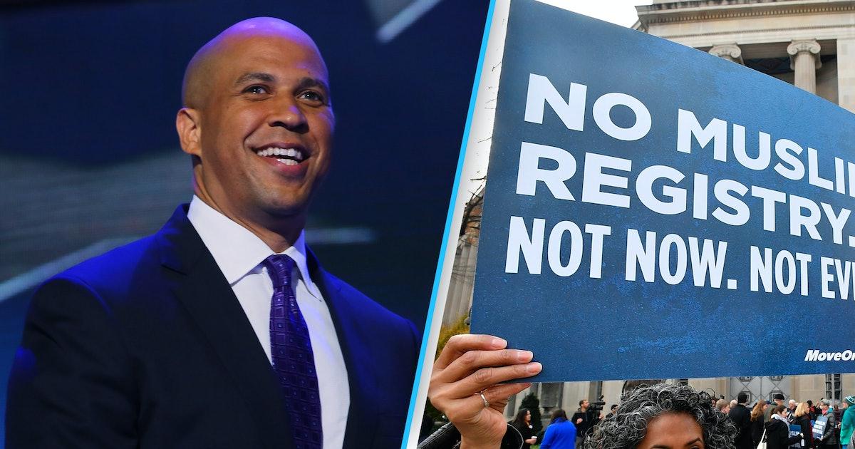 Sens. Cory Booker, Bernie Sanders introduce bill to block Donald Trump's Muslim registry
