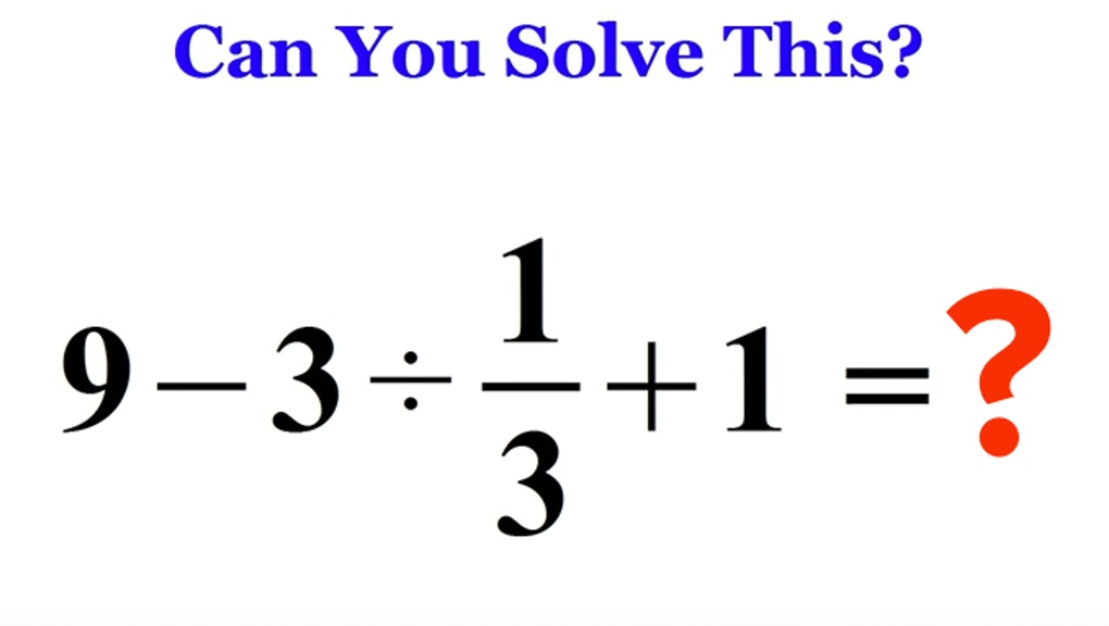 This Math Problem Is Stumping the Whole Internet. Can You ...
