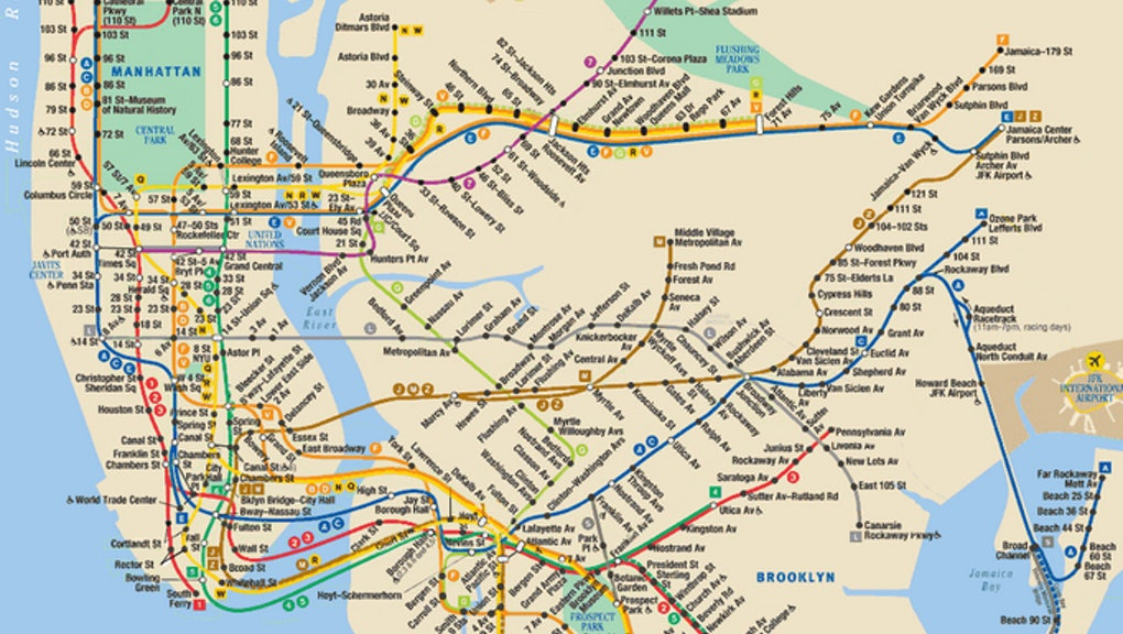 Map Of New York Subway Lines.Nyc Subway Map Shows Every Line Going Up In Under 20 Seconds