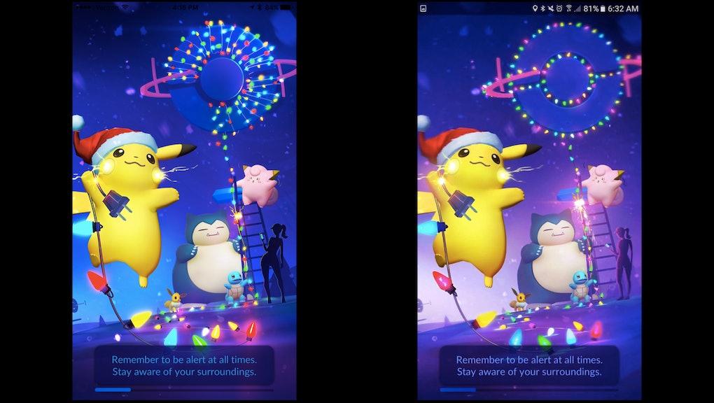 Christmas Update Pokemon Go.Pokemon Go Christmas Loading Screen Swaps Curvy Female