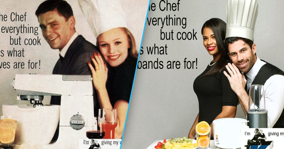 For Women's History Month, this teacher recreated vintage ads to call out sexism