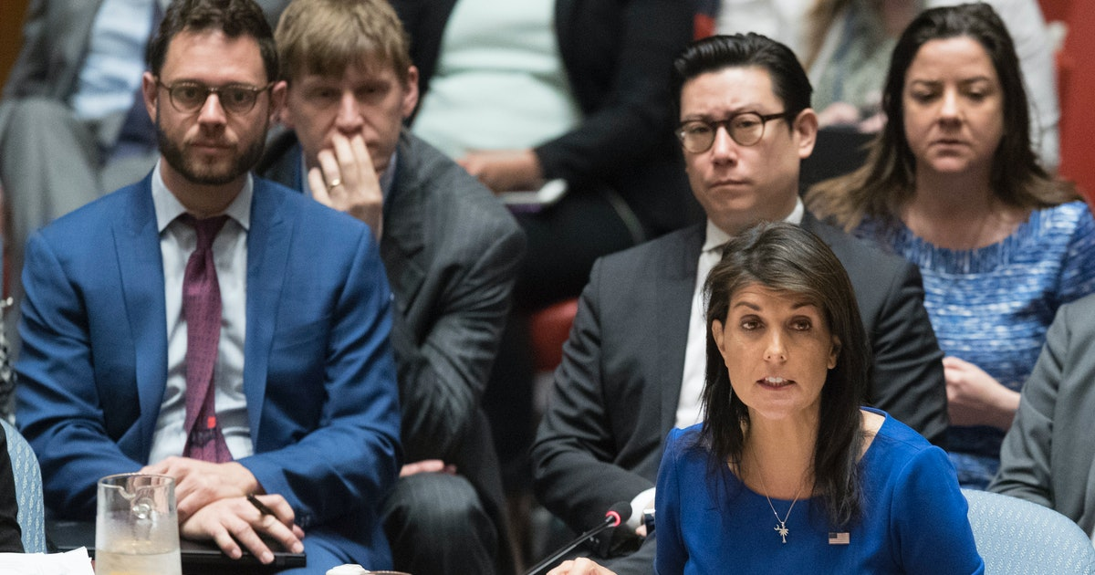 """Haley hits back at Russia over airstrike condemnation: """"The time for talk ended last night"""""""