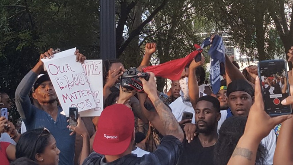 Bloods And Crips Stand Together In Solidarity During Atlanta Black