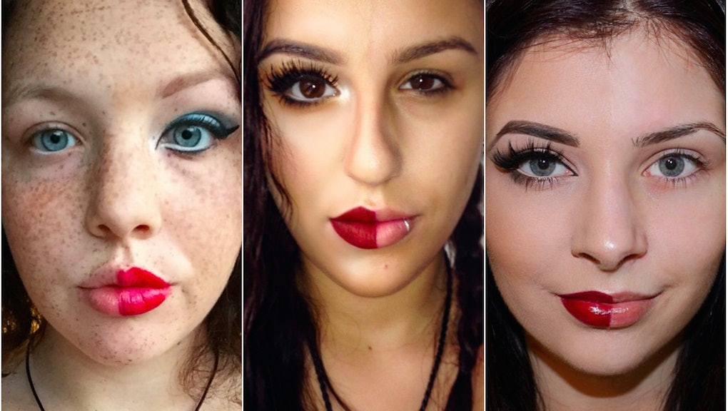 """These """"Power of Makeup"""" Instagram Photos Are Making an Important Point About Beauty"""