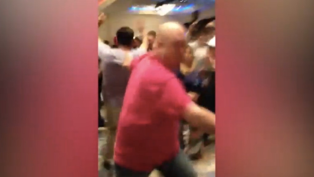 Watch a White Donald Trump Supporter Violently Throw a