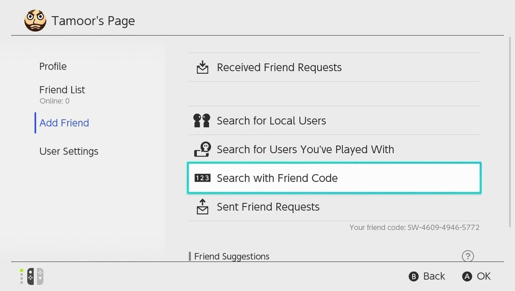 Find A Code >> Nintendo Switch Friend Codes How To Create A Nintendo