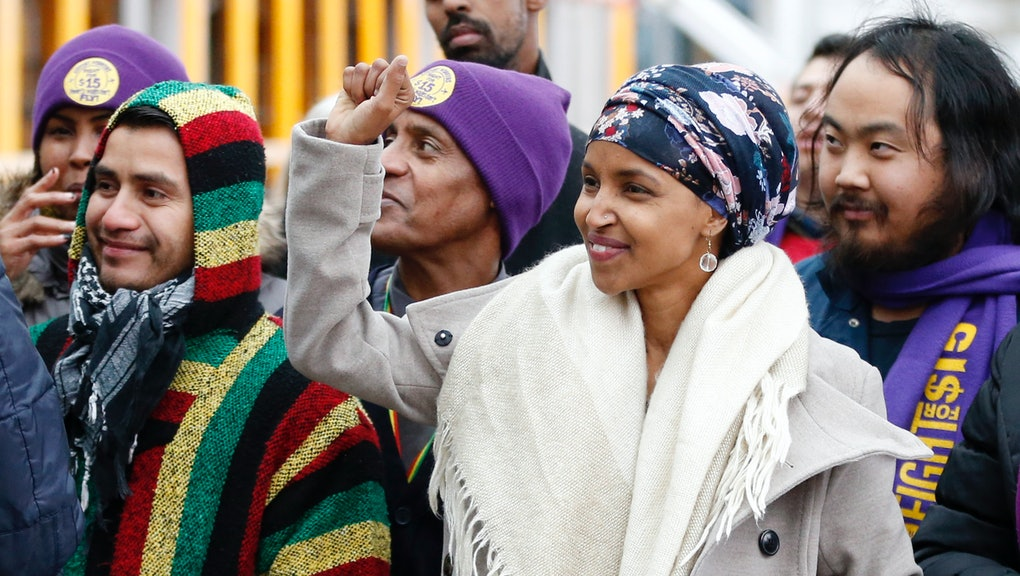 This photo of Ilhan Omar's swearing-in ceremony shows