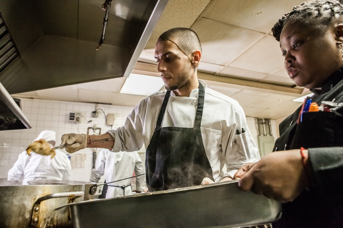 Hiring trained homeless people as cooks can be a major payoff for the food industry