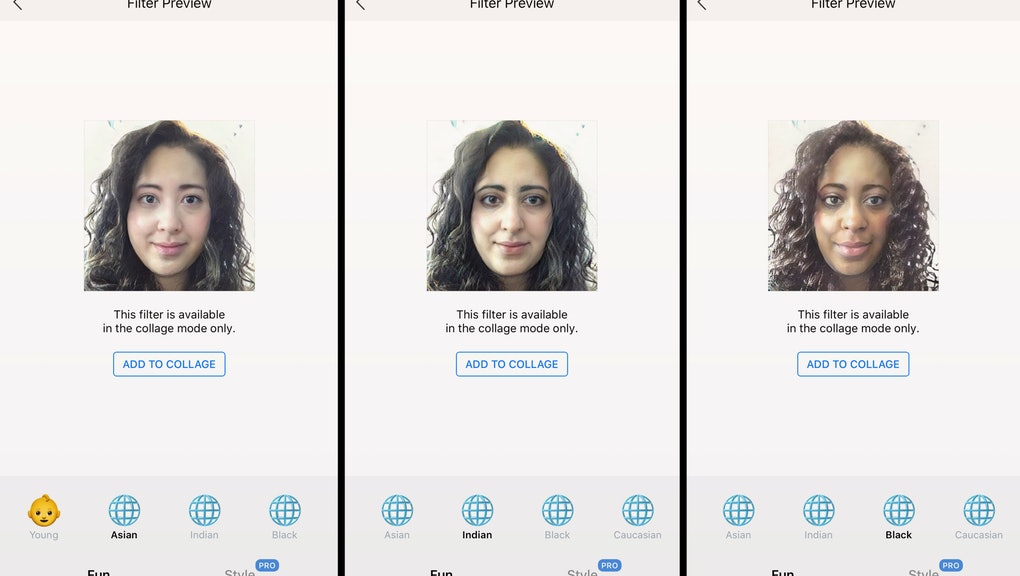 Photo-editing app FaceApp updates with Asian, Black