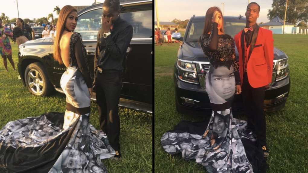 84a26f01f49 This teen used her prom dress to honor Trayvon Martin and the Black Lives  Matter movement