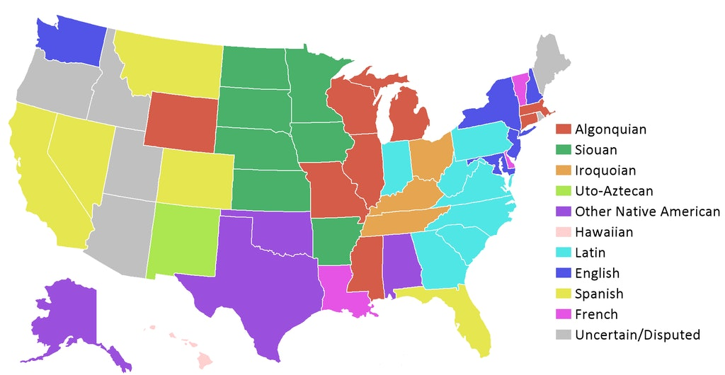 What is the Origin Of Your State\'s Name? Check This Map