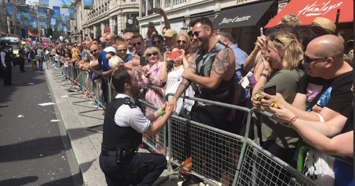 This London Police Officer Proposing to His Partner at Pride Will Make Your Day