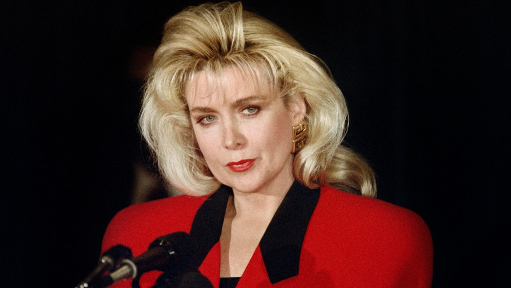The 70-year old daughter of father (?) and mother(?) Gennifer Flowers in 2020 photo. Gennifer Flowers earned a  million dollar salary - leaving the net worth at  million in 2020