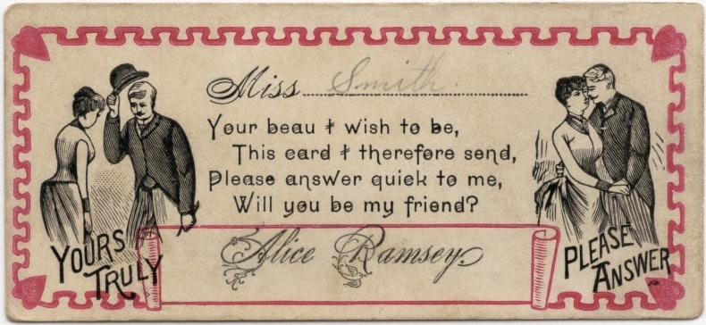 These 19th Century Pickup Lines Will Make You Long For A Time Before Tinder