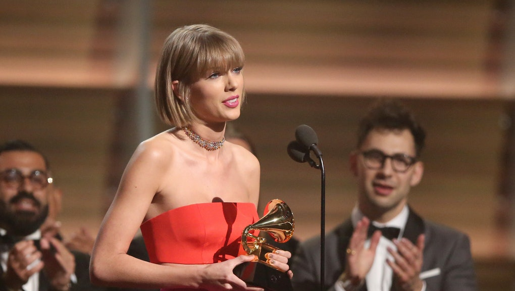 Taylor Swift Threw Serious Shade At Kanye West During Her Grammy Acceptance Speech