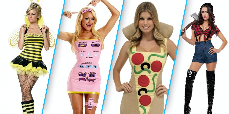 Women wearing sexy halloween costumes