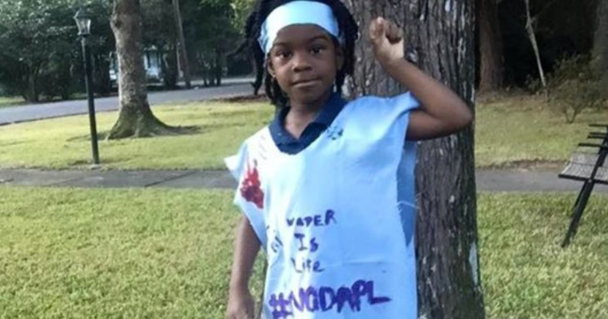 "Girl told to dress ""like an Indian"" for school assignment made a statement on #NODAPL"