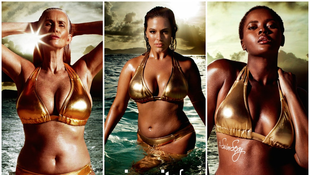 cc9db59c7 This Ad With a 56-Year-Old Model Is Making 'Sports Illustrated' Swimsuit  History
