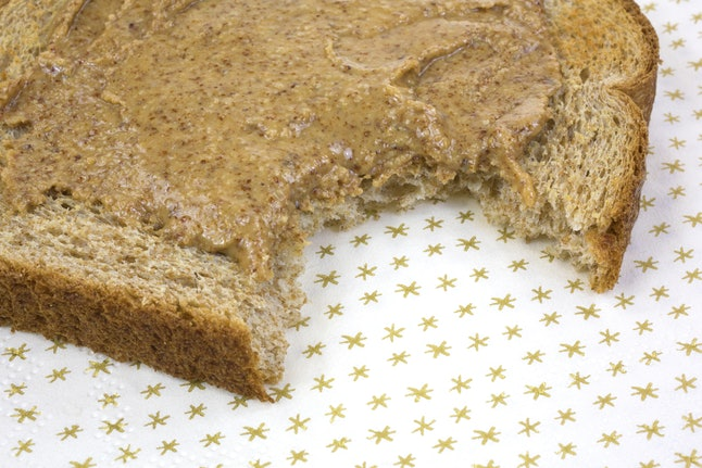 Whole wheat toast and almond butter