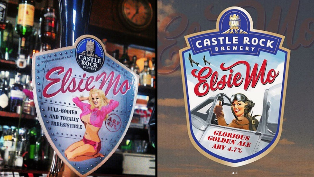 Castle Rock Brewery swaps its sexist pinup girl for a female
