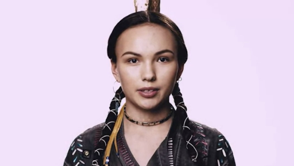 Native American 'Teen Vogue' Model Daunnette Reyome on