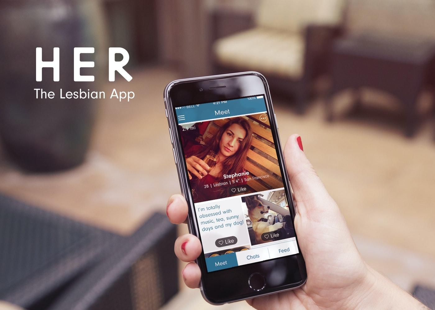 Lesbisk dating app som Tinder