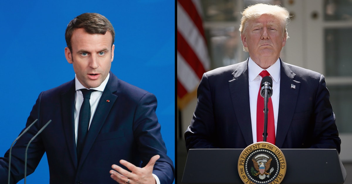 French President Emmanuel Macron is Donald Trump's newest and biggest troll