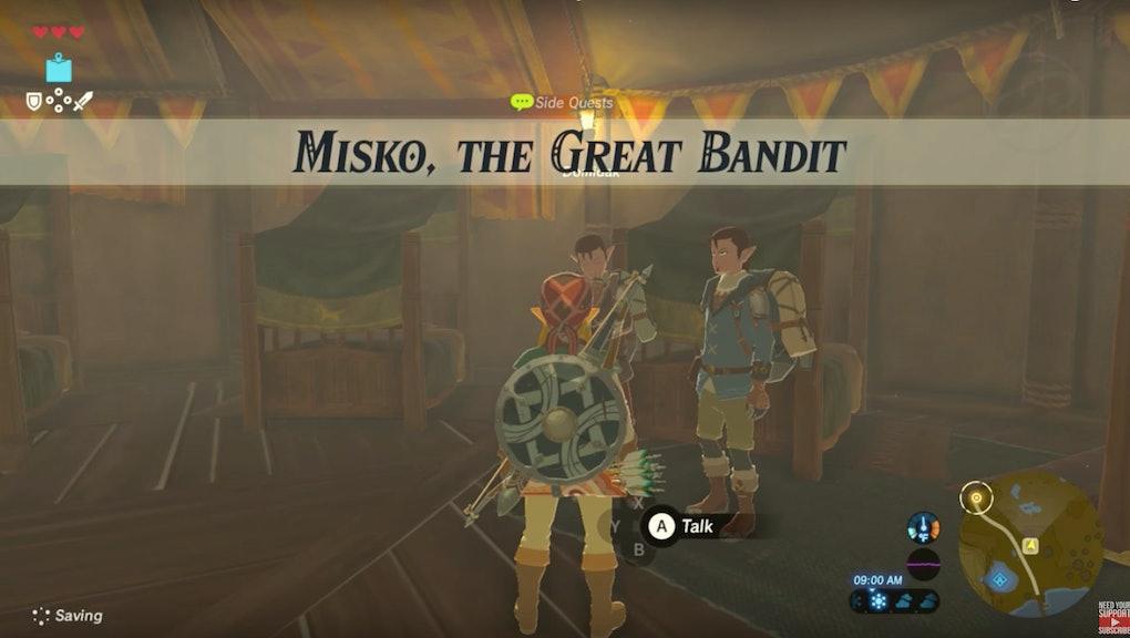 Misko The Great Bandit Zelda >> Zelda Breath Of The Wild Misko The Great Bandit Guide How To